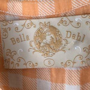 Bella Dahl Tops - Bella Dahl Orange Plaid Button Down Shirt Top S